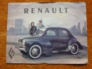RENAULT 4 CV ORIGINAL Prospekt