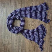 Schal lila-violett-silber NEU