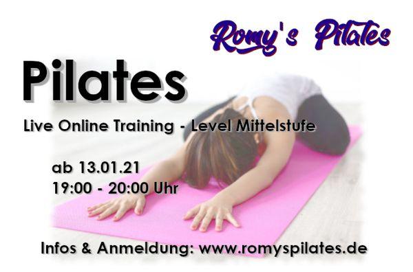 Trainiere Pilates live und online
