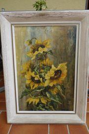 Oelgemälde - Sonnenblumen