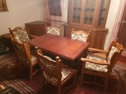 Esszimmertisch mit 6 Stühlen Eiche
