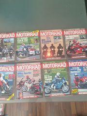 Motorradhefte Zeitschriften verschiedene Jahrgänge ab