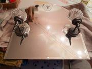 Spiegel mit 2 Lampen
