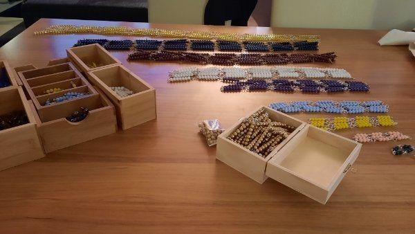 Montessori Pädagogik- Perlenmaterial
