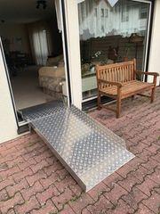 Rollstuhlrampe für Terrassentür