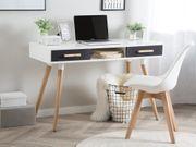 Schreibtisch weiß grau 120 x
