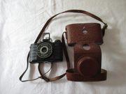 Pouva Start mit Tasche Rollfilm-Kamera