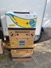 5x Bananen Umzugskartons mit Deckel