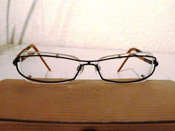 JOOP-Brillengestell randlos unisex schwarz-braun-gold original