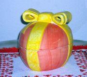 Großes Deko-Osterei aus Keramik mit