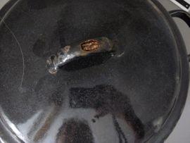 Geschirr und Besteck - Kartoffeldämpfer Topf Emaille alt Dämpfer