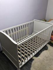 Babybett Gitter weißes Holz von