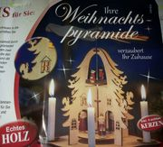 Weihnachtspyramide aus Echtem Holz NEU