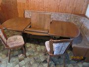 Truheneckbank Ausziehtisch 2 Stühle