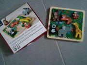 Holzformenpuzzel 7-teilig Dschungeltiere - Neuwertig