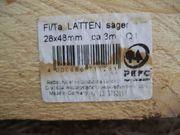3m Dachlatten Holzlkatten Latten 28x48mm
