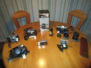 Diverse Fotoapparate und Zubehör