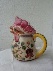 Blumengießer Porzelllan Hahn-Figur