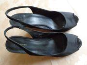 Damen Wedges Stoff-Sandaletten Gr 40