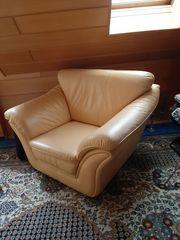 Leder-Sitzgarnitur 3-teilich Gebraucht