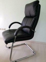 Freischwinger-Sessel mit Armlehnen schwarz