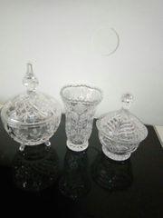 Verkaufe Vase und 2x Zuckerschale
