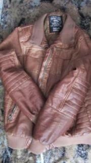 Tolle Marken Lederjacke braun für