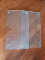 2 Glasplatten als Ablage oder