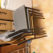 4 Stapelstühle Stühle Buche Metall