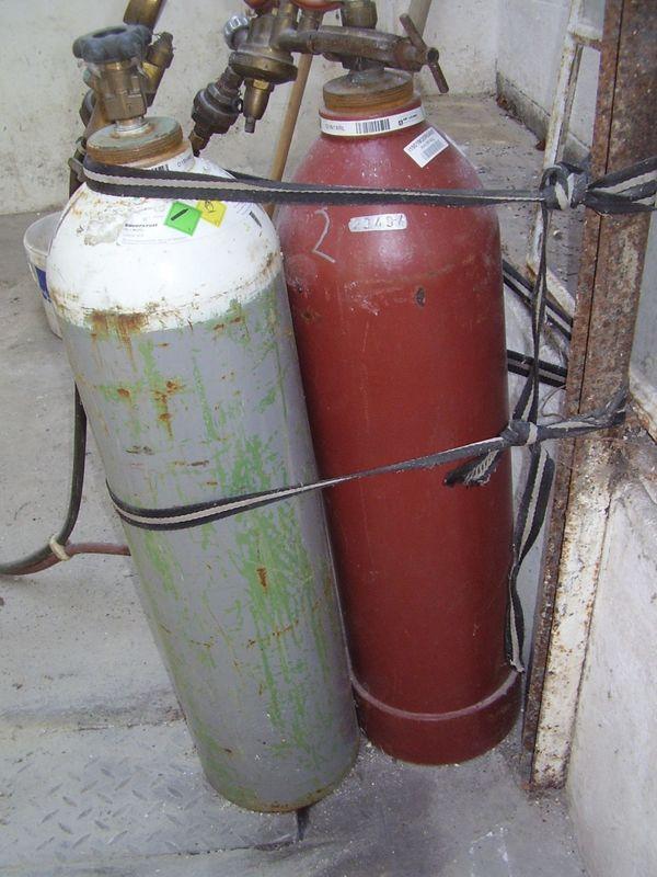 Gas und Sauerstofflaschen 20ltr Mietfrei