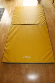 Turnmatte klappbar 200x100x8cm blau-gelb