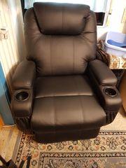 Elektrischer Relaxsessel mit Aufstehhilfe Schwarz