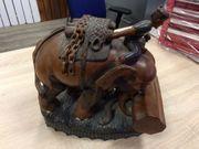 Dekoartikel Elefanten aus Holz