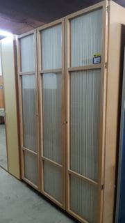 Kleiderschrank 3-türig 150x225x50 Antik-Look - HH21043
