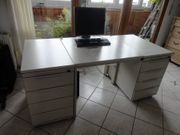 hochwertiger Schreibtisch mit Container der