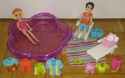 Polly Pocket Paar am Pool