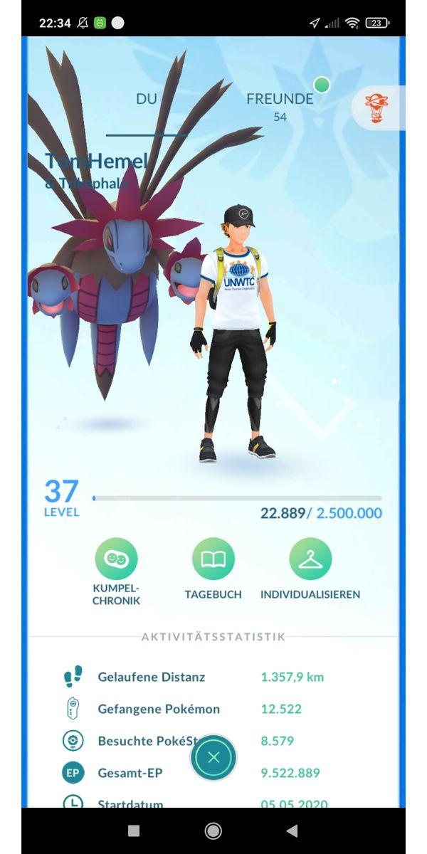 Pokemon Go Account Level 37