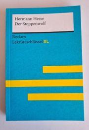 Der Steppenwolf Reclam - Lektüreschlüssel XL