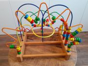 Joy Toy Motorikschleifen Holzspielzeug Perlenlabyrinth