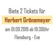 2 Karten Tickets für Herbert