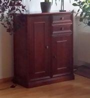 Schrank - antik - nussbaum - Kommode - Vitrine