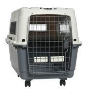 Hundebox - AniOne Transportbox Grau Weiß