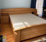 Schlafzimmergarnitur Bett und Kleiderschrank