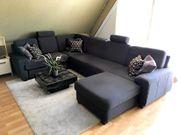 Wohnlandschaft Ecksofa Sofalounge Couch Tisch