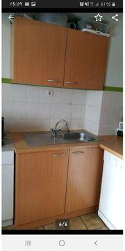 Einbauküche küchenzeile mit kühlschrank backofen