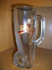 Bitburger Glas Krug Bitte ein