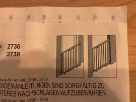 Bild 4 - Geuther Treppenschutzgitter Schwenk- Türschutzgitter Holz - Karlsruhe Waldstadt
