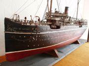 Antikes historisches Schiffsmodell Passagierdampfer -S