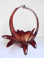 Murano Design Glas-Schale Zipfelschale Henkelschale
