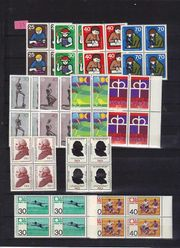 BRD 12 Viererblocks 1974 Postfrisch